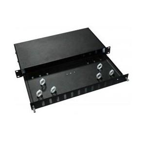 Tiroir 19'' 1U fibre optique 12 ports ST - Vide
