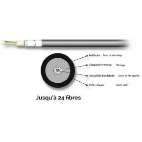 Câble optique Universel 08E (1x8) Monomode G657A - au mètre