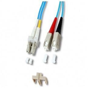 Cordon FO Duplex multimode 50/125 - OM4 - SC/LC - 1 M