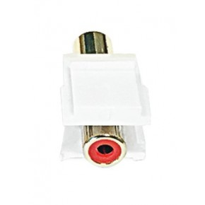 Keystone plastique blanc RCA rouge F / F