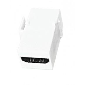 Keystone plastique blanc HDMI 1.4  type A F / A F