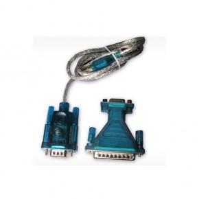 Adaptateur USB 2.0 - Série RS-232 DB9+Adapt DB9/DB25 1.8 m Win XP,7,8
