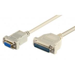 Cordon DB9 F / DB25 M Null modem - 3m
