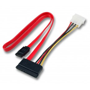 "Nappe SATA 22 points vers SATA 7 points + Molex 5""1/4 - 0.50m"