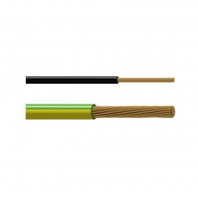 Bobine de 100m - Câble  Vert / Jaune  1 x 4 mm2