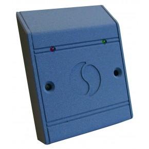 Lecteur mullion - distance de lecture de 0 à 5 cm - buzzer -1 voyant vert pilotable - Dataclock / wiegand - montage en applique