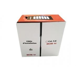 UPTEC - Câble F/UTP - PVC - Cuivre -  Monobrin Cat 5e Gris - 305 m