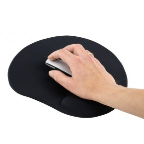 Tapis de souris NOIR avec repose poignet en gel
