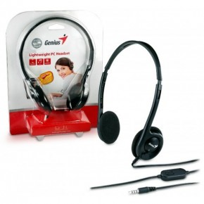 GENIUS-Micro casque,Serre tête reglable-HS-M200C - SINGLE  JACK - EOL