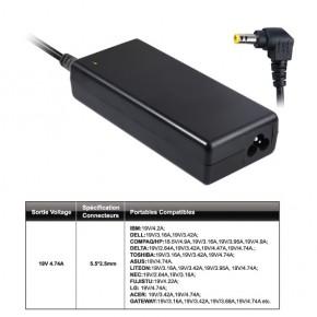 Chargeur 110W max ( 90W nominal)  pour ordinateurs portables