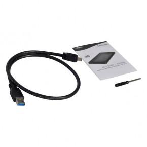 "Boitier ext DD 2,5"" SATA USB 3.0 aluminium, mini cable USB3.0"