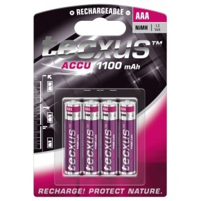 Batteries Ni MH professionnelles LR3 - 1,2V - 1100 mAh - par 4