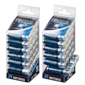 Piles alcaline LR 6 - AA - pack de 24