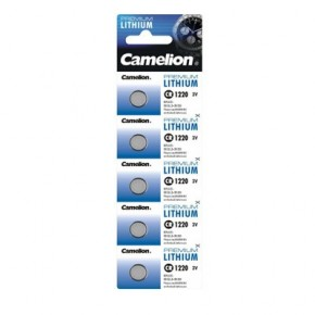 Piles lithium bouton CR 1220 pack de 5