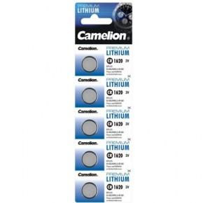Piles lithium bouton CR 1620 pack de 5