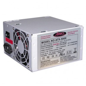 Alimentation ATX 480W CE+TÜV, 20+4 pins, ventilateur 80mm, 4 x SATA