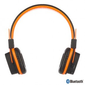 Casque audio Bluetooth pliant avec emplacement micro sd orange - NGS