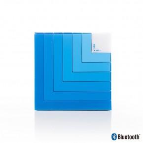 Enceinte Bluetooth cube bleu - 5W - lumières LED - NGS