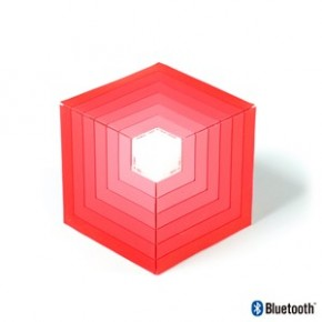 Enceinte Bluetooth cube rouge - 5W - lumières LED - NGS