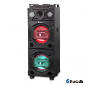 Sono portable 360W RMS Bluetooth Tuner FM MP3/USB/SD Double subwoofer