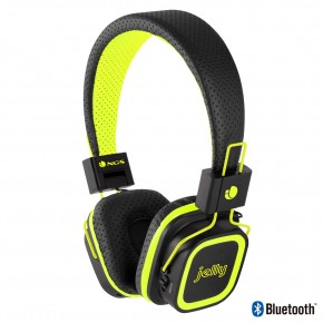 Casque audio Bluetooth pliant avec emplacement micro sd Jaune - NGS