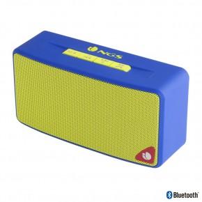 Haut parleur Bluetooth 3W bleu entrée USB carte SD radio FM - NGS