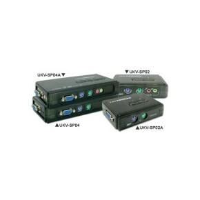KVM 2 ports PS/2 / VGA avec sortie audio - câbles inclus
