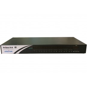 KVM 16 ports USB & PS/2 / VGA rackablel manageable en IP - OSD