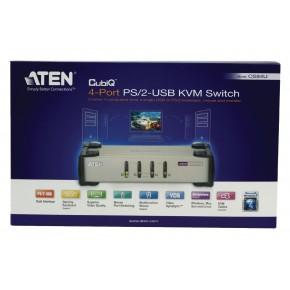KVM 4 ports VGA & PS/2 - Livré avec les câbles - ATEN CS84