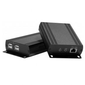 Extendeur USB 2.0 sur câble RJ45 & Hub 4 ports