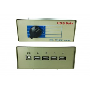 Switch manuel USB - 1 Type B vers 4 Type A