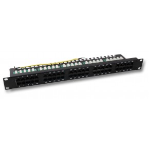 Panneau téléphonique 1U noir Cat 3 50 ports 3-6/4-5