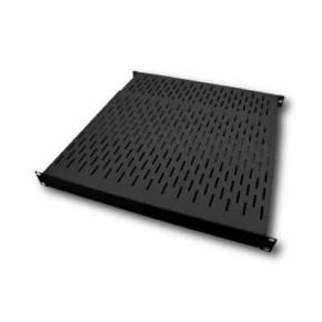 """Etagère 19"""" 1U noir Prof 750 ajust. 550 à 890 mm Charge 80 Kg"""