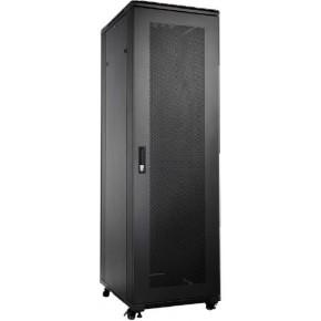 UPTEC - Baie 19'' 42U noire 800 x 1000 avec portes : Nid d'abeille