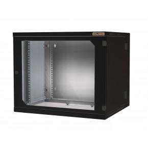 """Coffret 19"""" 12U noir prof. 600 mm soudé avec panneaux amovibles"""