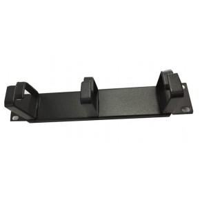 UPTEC - Passe Câbles noir 10'' en métal - 3 anneaux