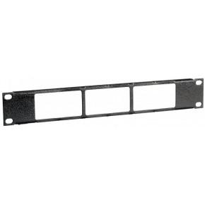 Panneau de brassage 10'' pour 12 modules - 3 Panduit plates
