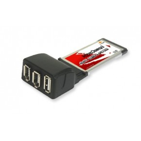 ExpressCard 1 port USB2.0 + 2 ports Firewire 400 Mbps