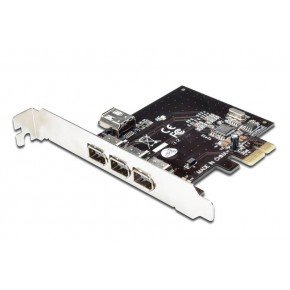 Carte PCI Express FireWire IEEE1394 3 ports externes + 1 port interne