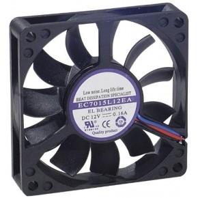 Ventilateur 70 x 70 x 15 mm - Lubrifié à Vie