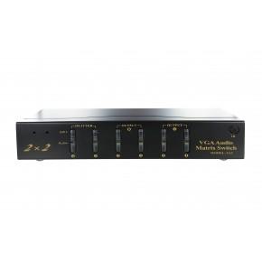 Matrice VGA+audio 2x2 (2 in-2 out) 450Mhz WXGA maxi - télécommande IR