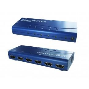 Commutateur HDMI 5 entrées 1 sortie - télécommande - 1080p - autoalim