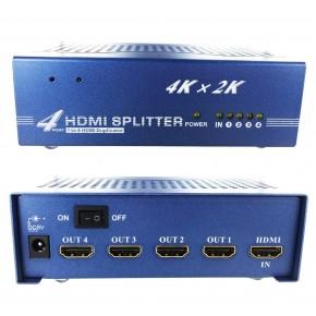 Splitter HDMI 1.4 - 4 ports - 4Kx2K 3D