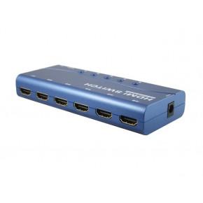 Commutateur HDMI 1080p 4 entrées 1 sortie -RS232/télécommande - Métal