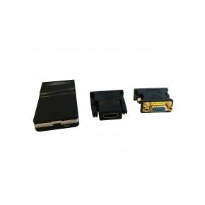 Adaptateur 3 en 1 - HDMI ou DVI-I ou VGA sur port USB 2.0
