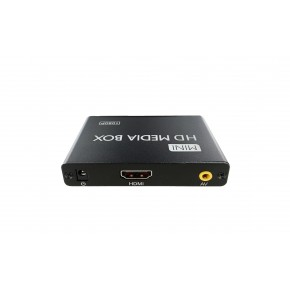 Boitier diffusion multimédia 4Go - IN : SD/USB - OUT : 3xRCA/HDMI