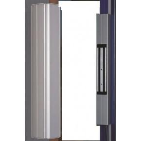 Bandeau Poignéee alu - Longueur 40cm - montage vertical - équipé de 1 x ventouses 300kg 12/24 VCC + bouchons haut et bas