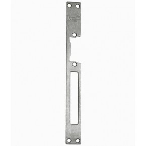 Têtière plate, double empennage, inox - L : 250mm