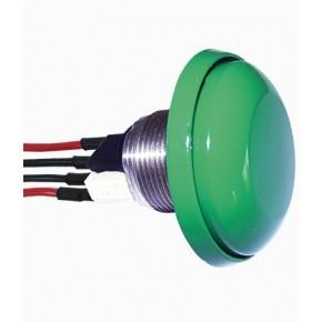 Bonton poussoirs Chocs vert,adaptée à la réglementation PMR - livrée avec plaque inox