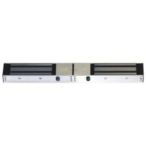 Ventouse 2 x 500kg double porte - saillie - avec visualisation et relais - 12 / 24 VCC Dimension et consommation: 2 x V500SL
